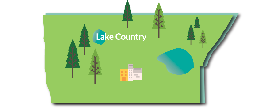 lake country map